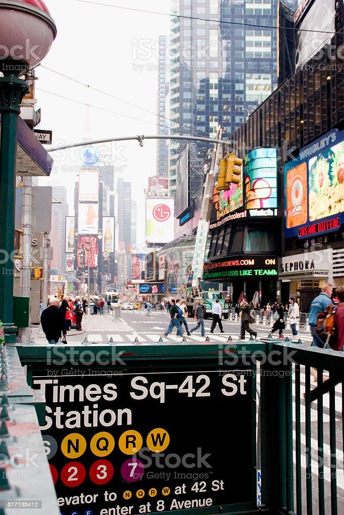 times square subway stock photo