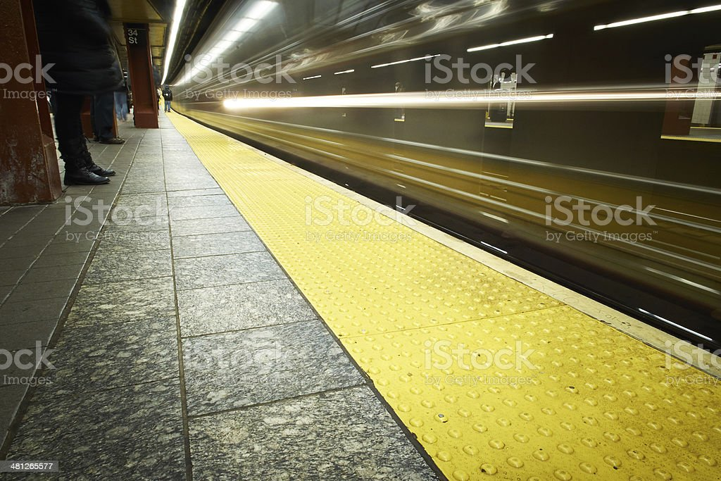 Times Square Subway Station, New York City stock photo