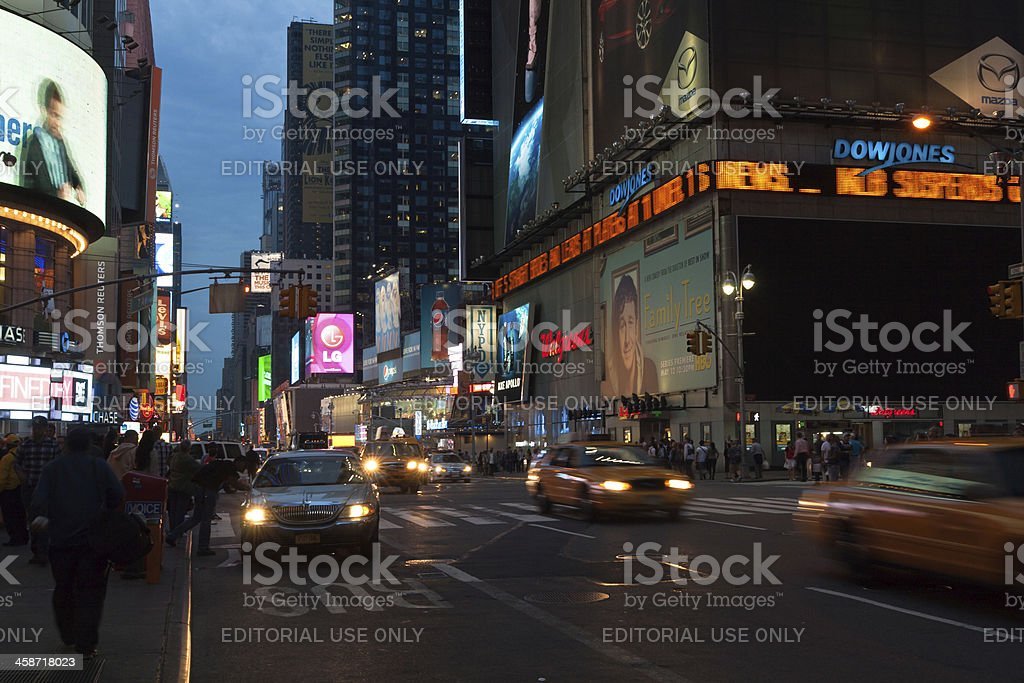 Times Square urban night scene stock photo