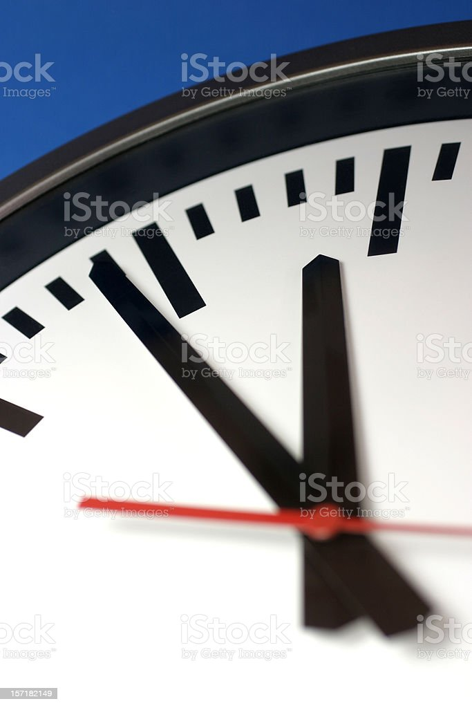 Times Up royalty-free stock photo