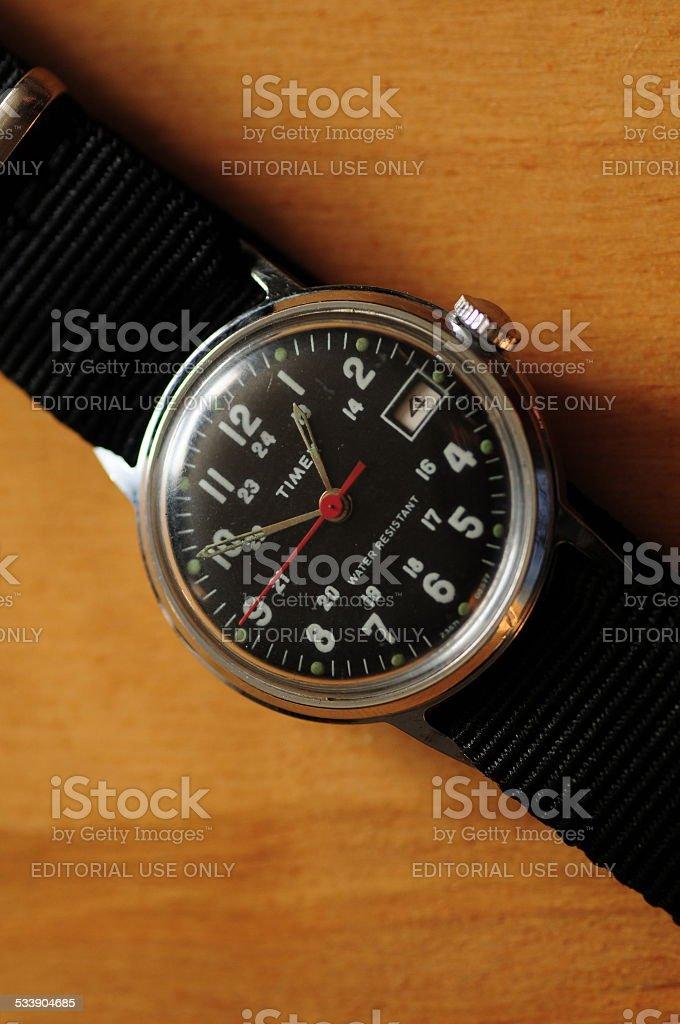 Timex vintage watch. stock photo