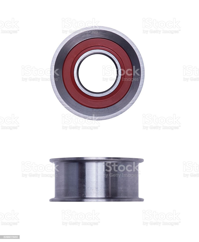 timing belt tensioner roller stock photo