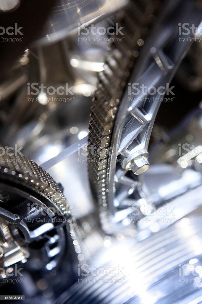 Timing chain belt stock photo