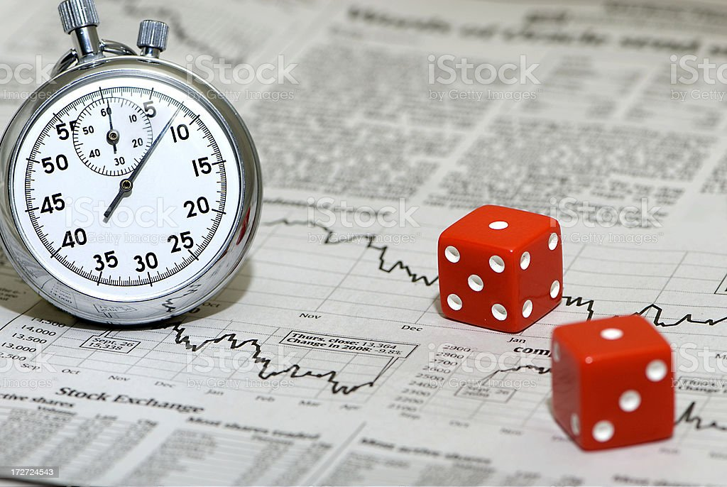 Timing is a Gamble stock photo