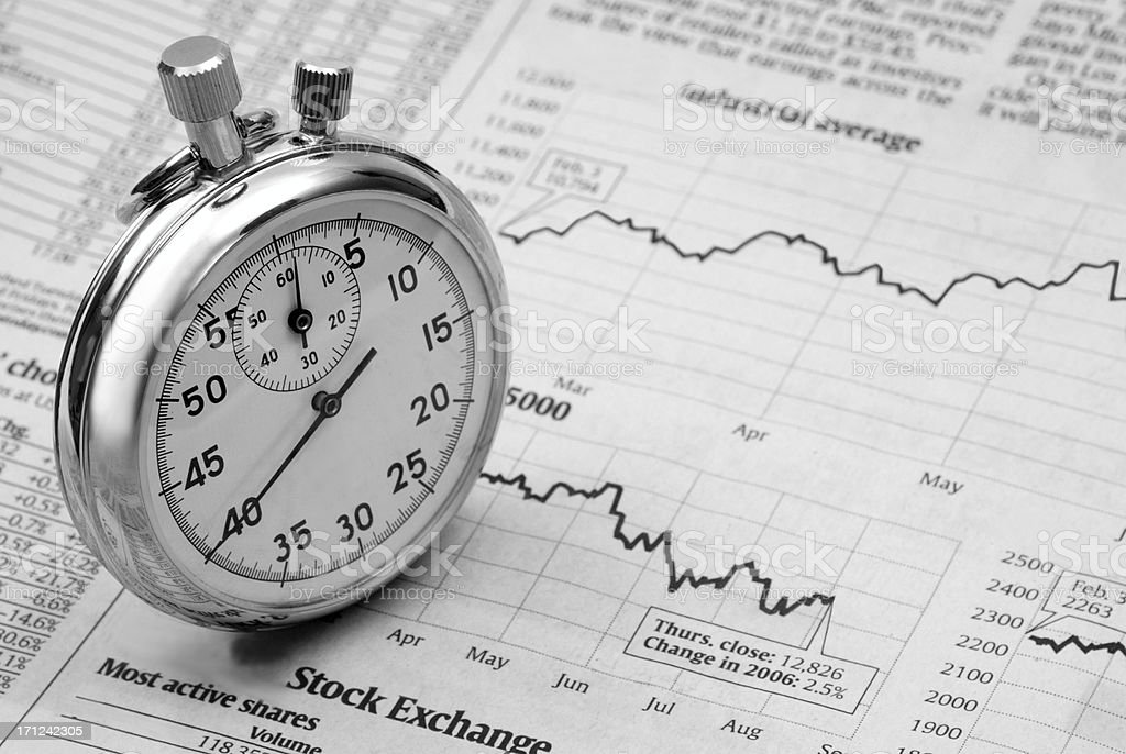 Timing The Market stock photo