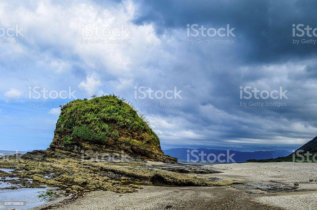Timmangtang Rock Pagudpud Philippines stock photo