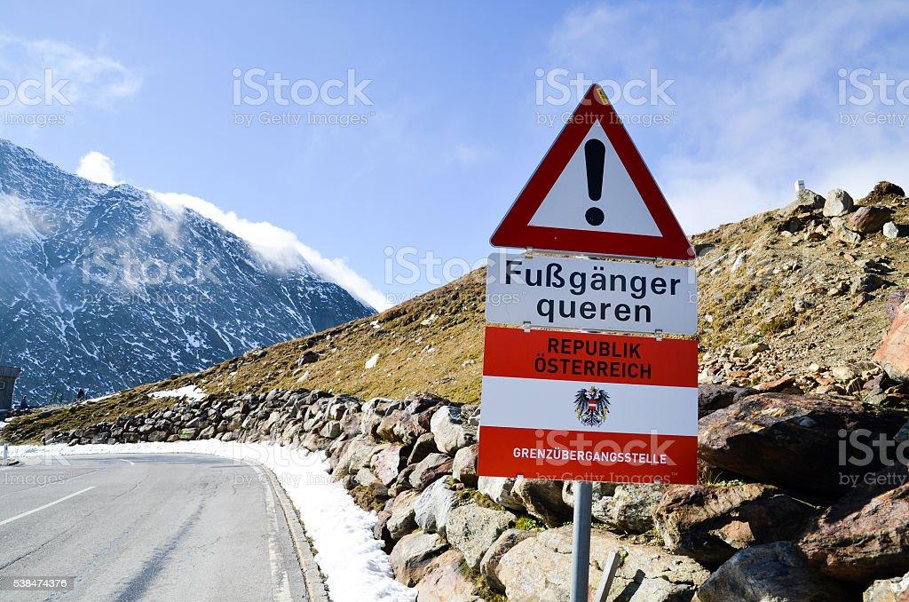 Timmelsjoch (Austria) stock photo