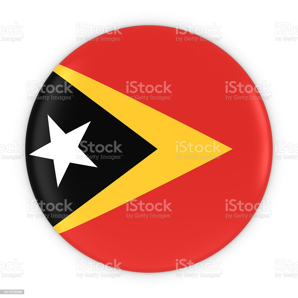 Timorese Flag Button - Flag of East Timor Badge stock photo