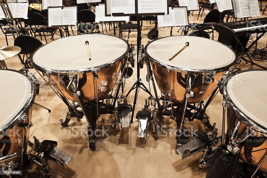 Timpani stock photo