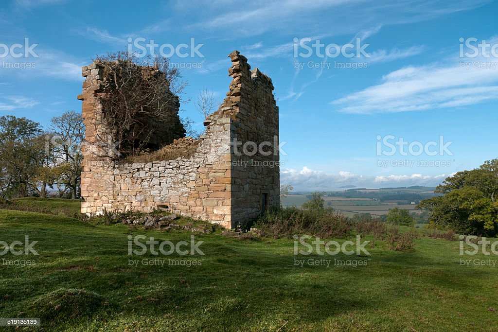 Timpendean Tower, Jedburgh, Scottish Borders, Scotland, UK stock photo