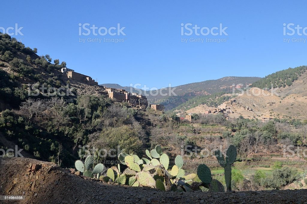 Timsekrine Village Landscape Scene stock photo