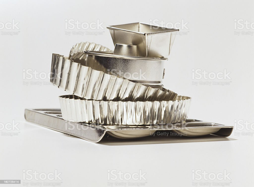 Tin baking dishes royalty-free stock photo
