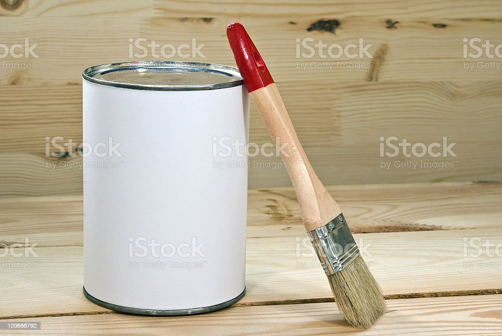 Tin bank with royalty-free stock photo