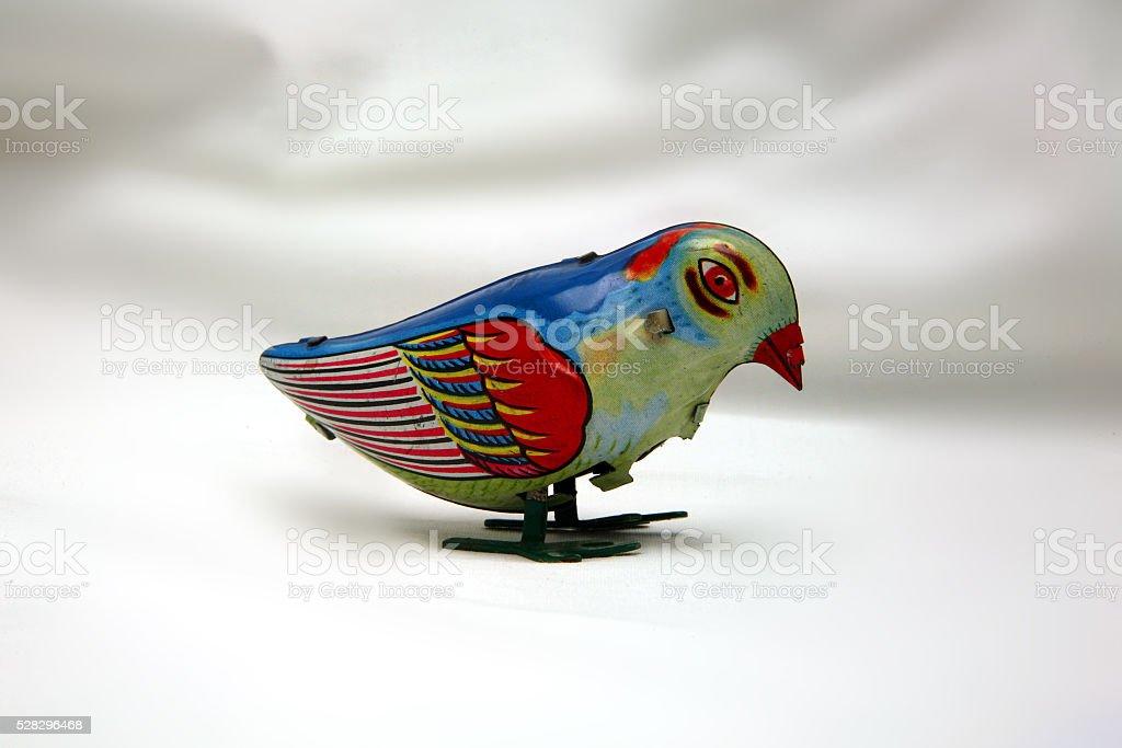 uccellino di latta stock photo