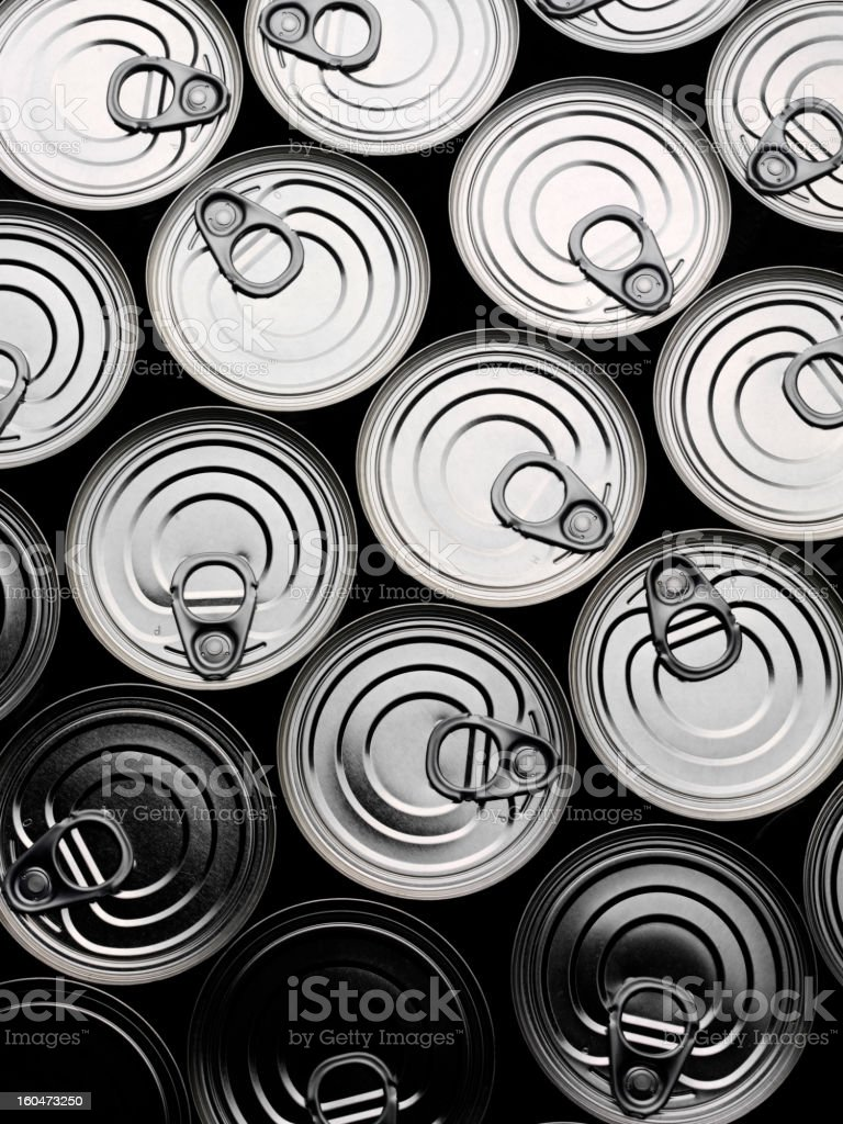 Tin Can Background royalty-free stock photo