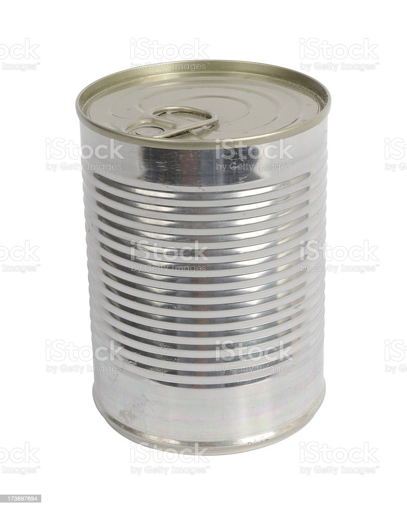 Tin Can (path included) royalty-free stock photo