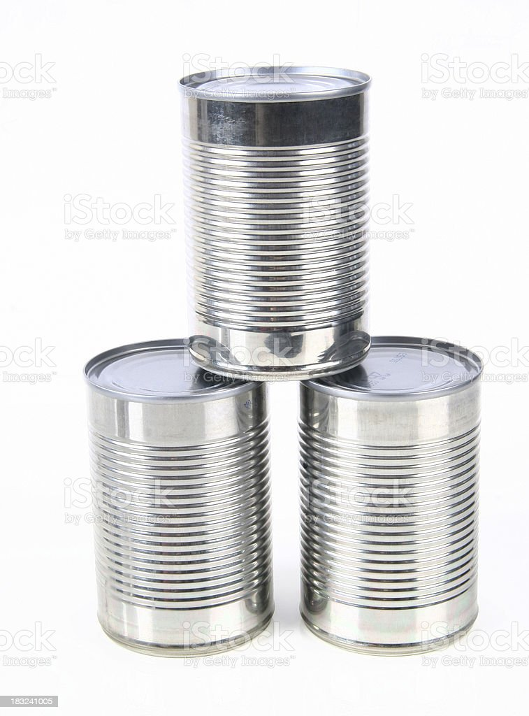 Tin Cans royalty-free stock photo