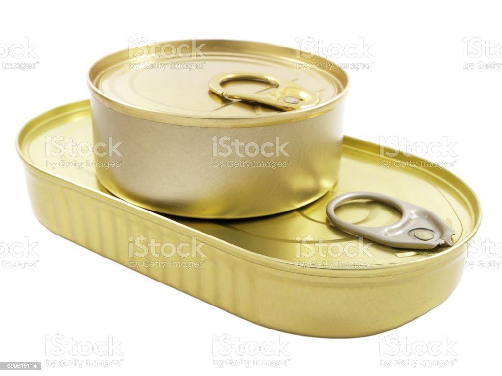 Tin cans stock photo