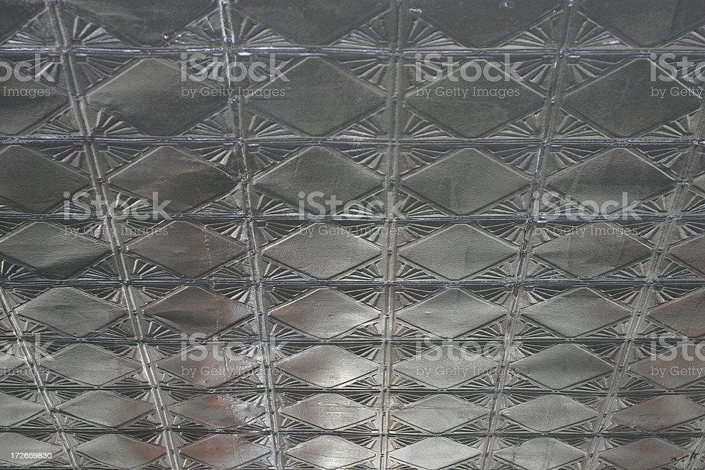 Tin ceiling stock photo