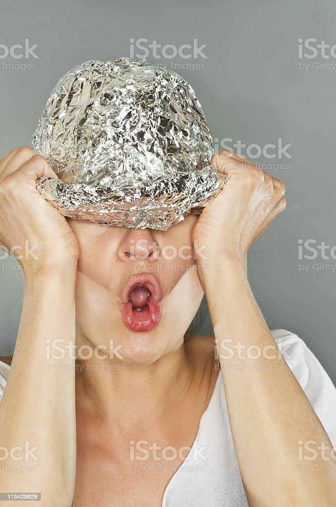 tin foil hat stock photo