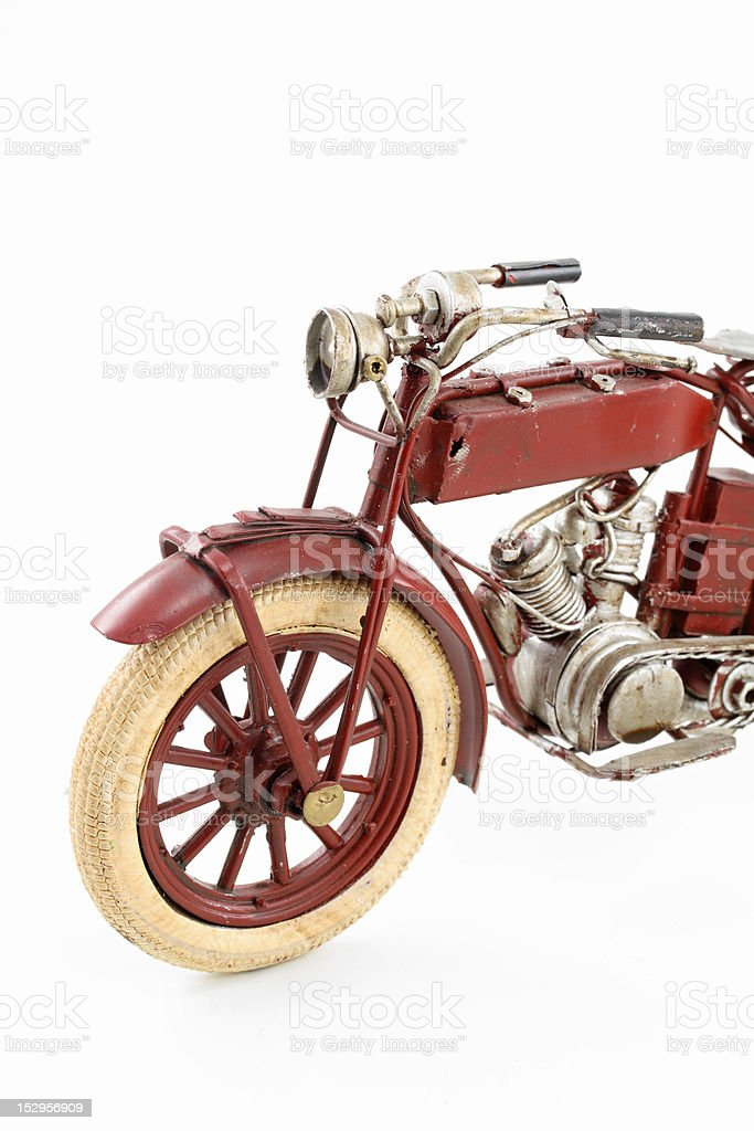 Tin motorcycle model royalty-free stock photo