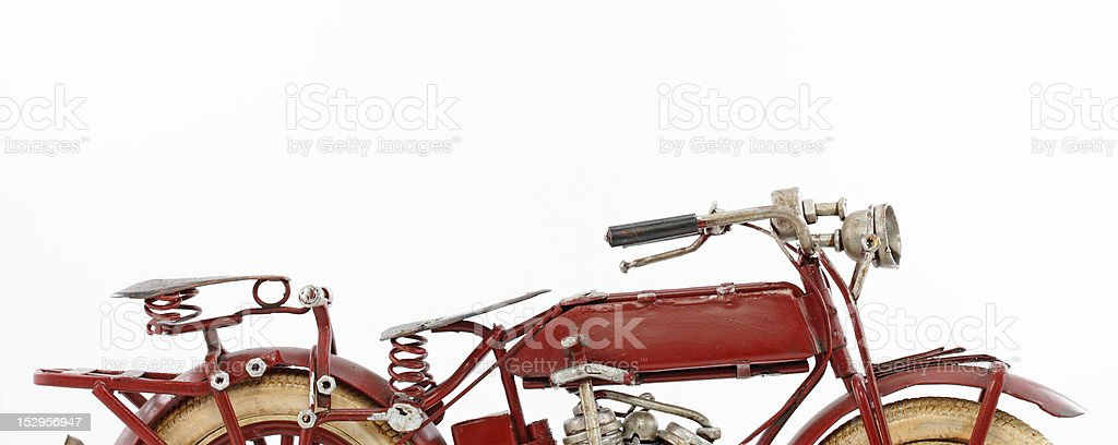 Tin motorcycle model royalty-free stock photo