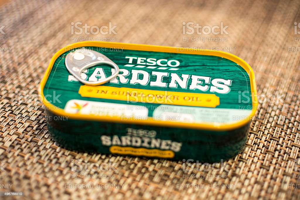 Tin of Sardines stock photo