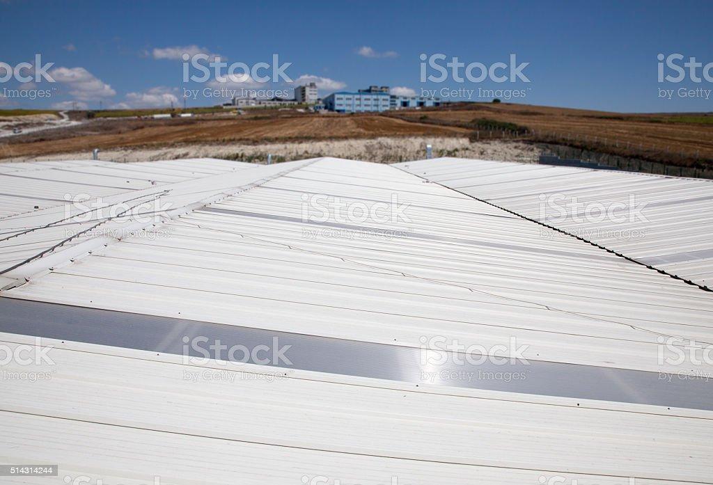 Tin Roof stock photo