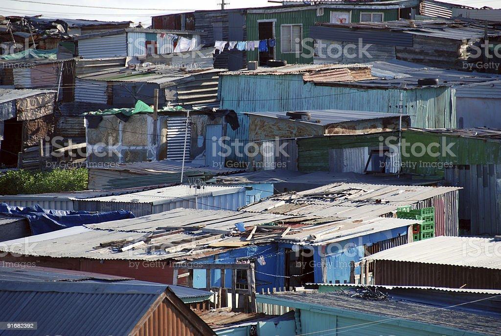 tin shacks stock photo