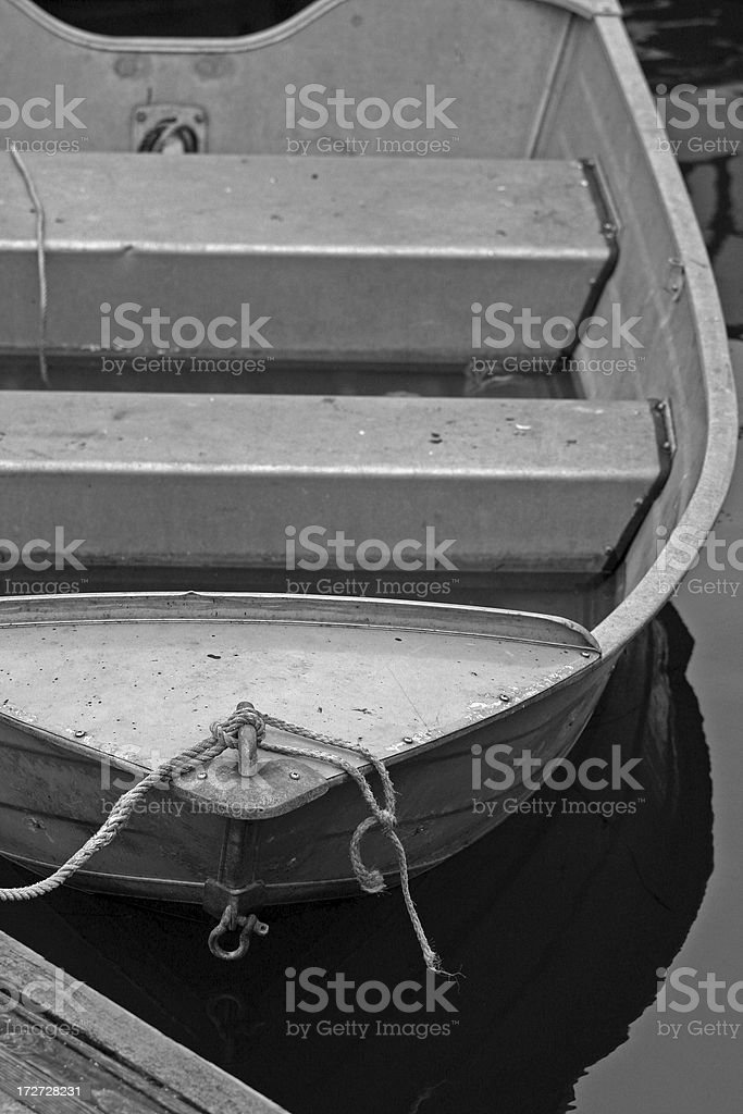Tin Skiff royalty-free stock photo