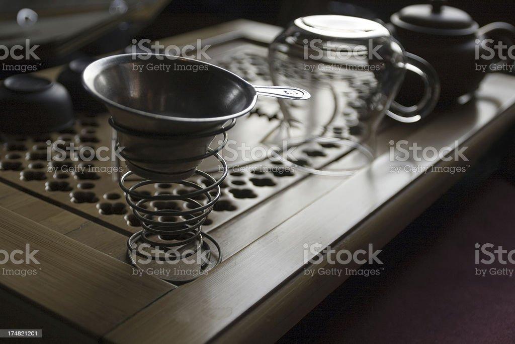 Tin tea cup royalty-free stock photo