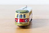 Tin toy historic locomotive
