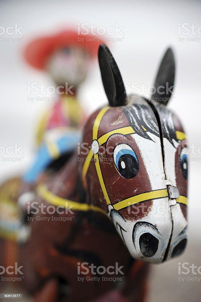 tin toy rider royalty-free stock photo