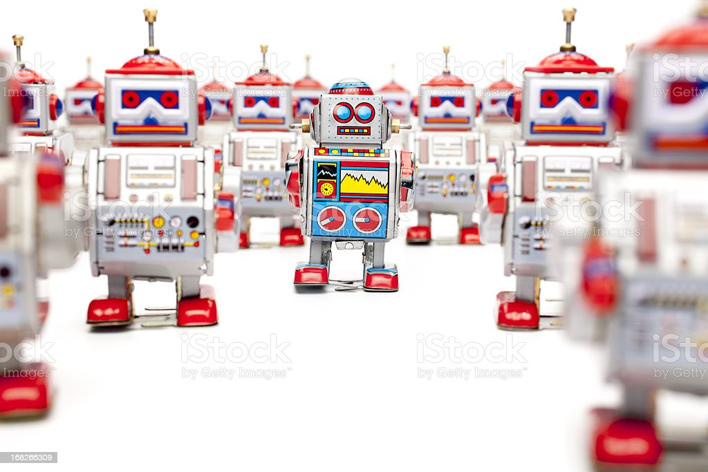 Tin toy robots - The one royalty-free stock photo