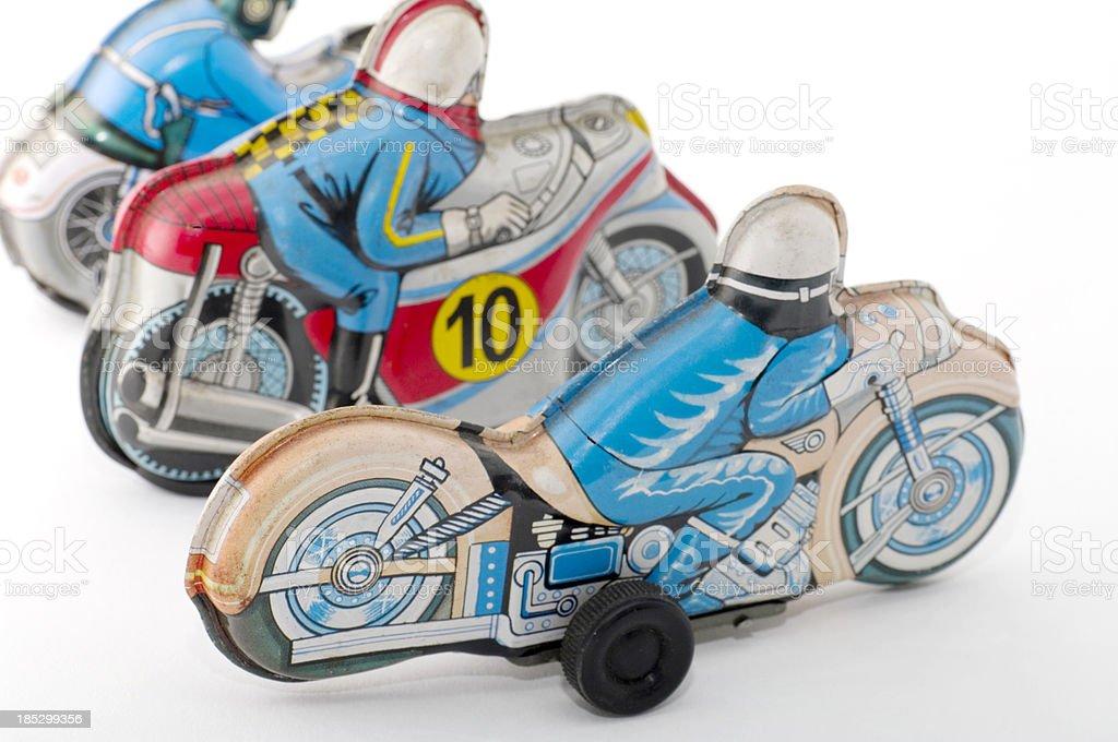 Tin Toys: MotorCycles stock photo