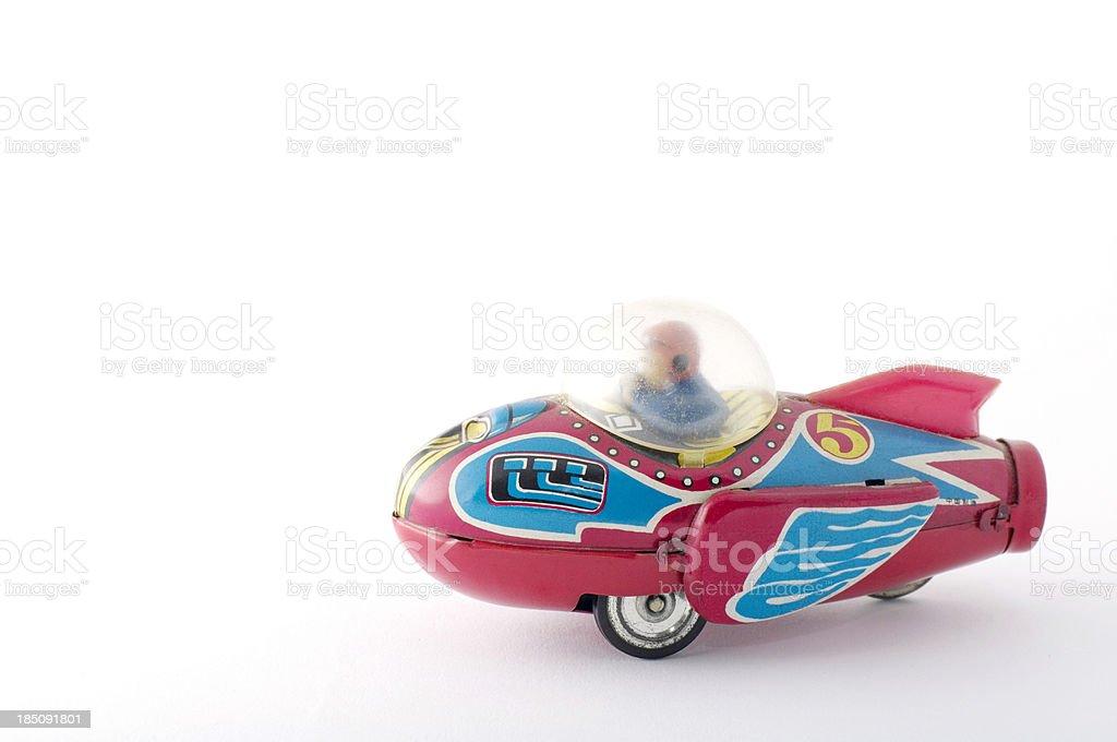 Tin Toys: Rocket Racer royalty-free stock photo