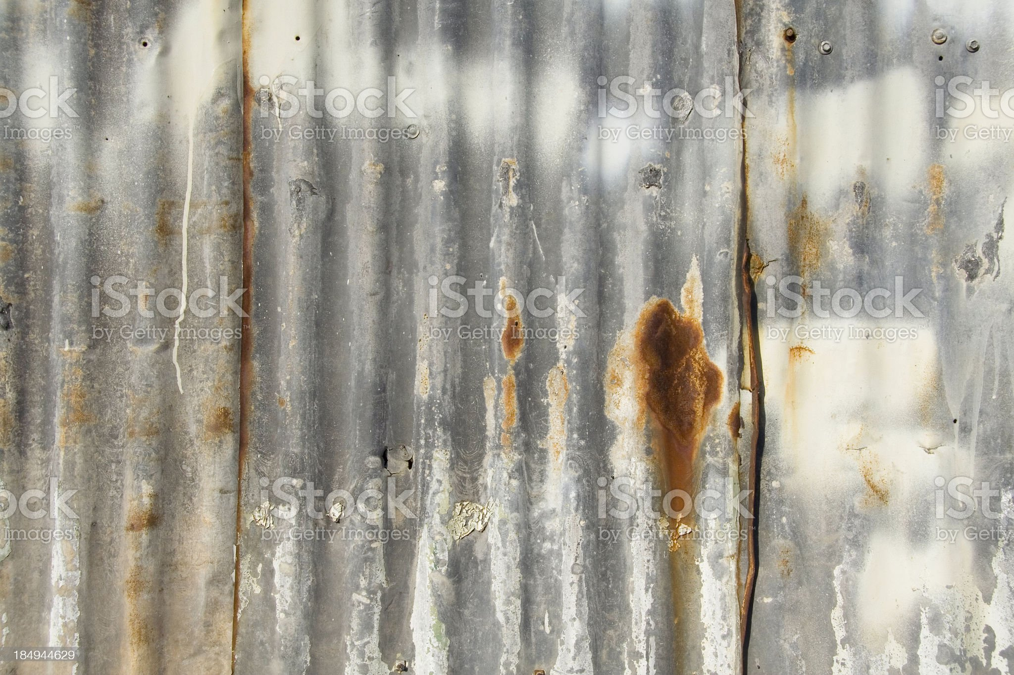 Tin Wall detail royalty-free stock photo