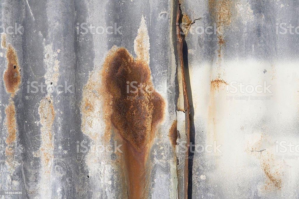 Tin Wall detail royalty-free stock photo