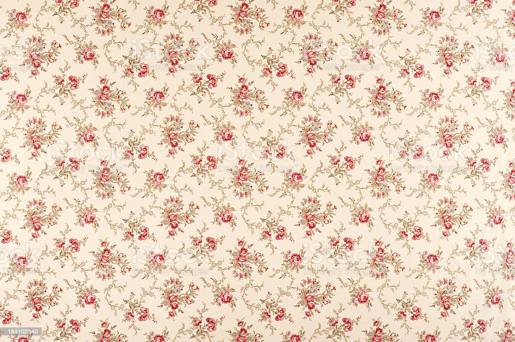 Tina Floral Antique Fabric stock photo