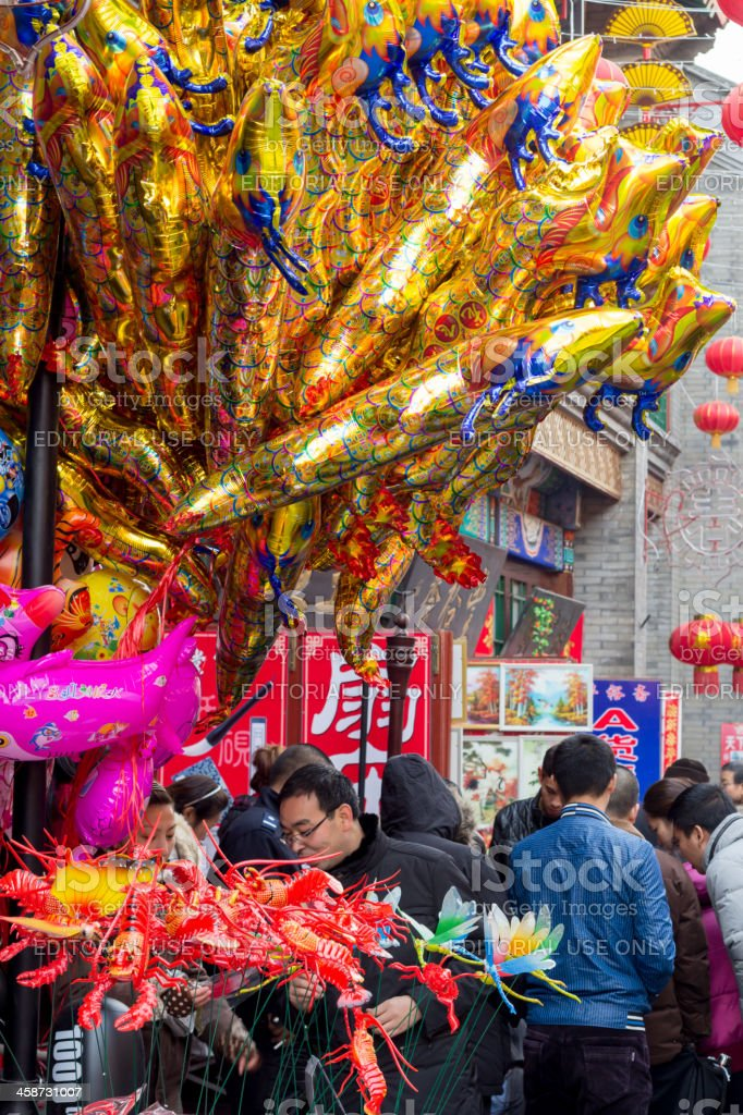 Tinajin antique street royalty-free stock photo