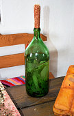 Tincture of horseradish and parsley on moonshine