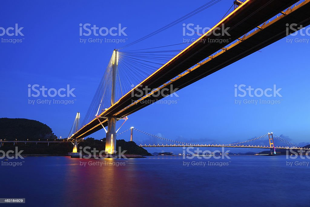 Ting Kau Bridge in Hong Kong stock photo