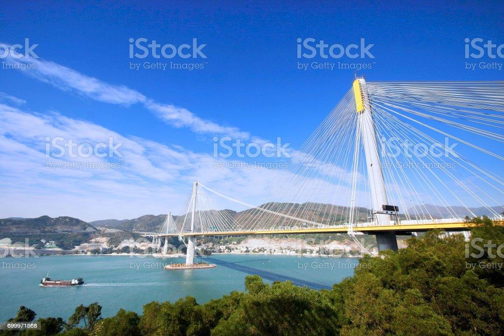 Ting Kau Bridge stock photo