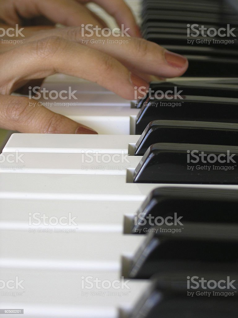 Tinkling the ivories royalty-free stock photo