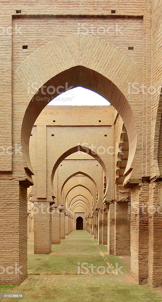 Tinmel Mosque Hallway stock photo