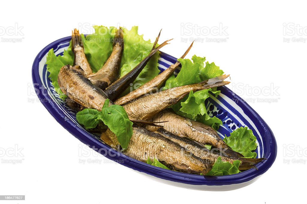Tinned sprat royalty-free stock photo