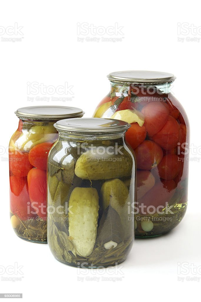 Tinned vegetables royalty-free stock photo
