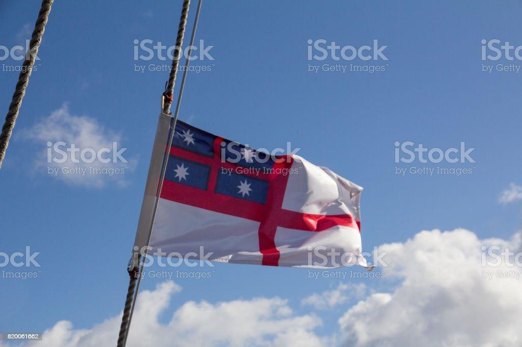 Tino Rangitiratanga flag stock photo