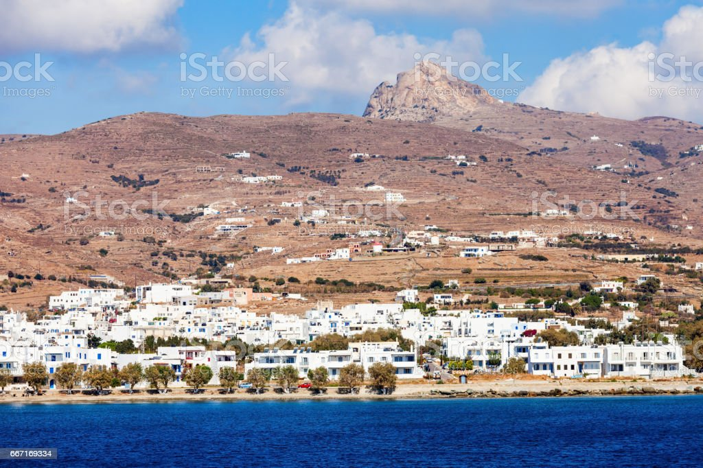 Tinos island in Greece stock photo