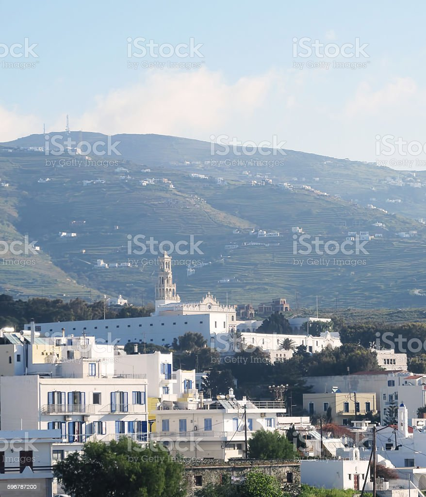 Tinos island stock photo